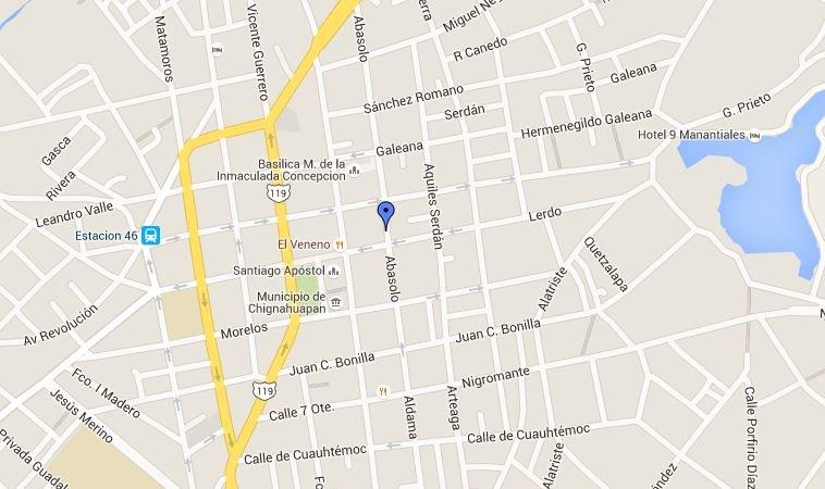 Terminal Autobuses Chignahuapan Mapa