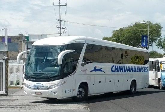 Autobús Chihuahuenses Select en Puebla